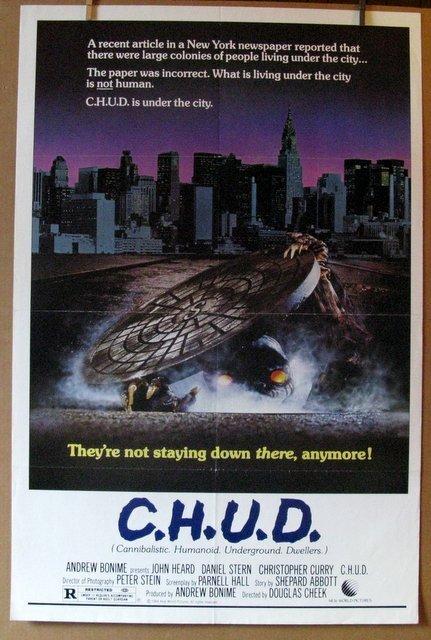 "C.H.U.D. - 1984 - One Sheet Movie Poster - 27""x 41"" -"