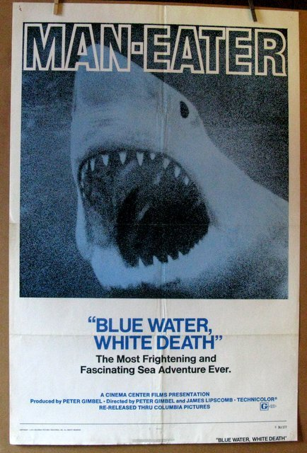 BLUE WATER, WHITE DEATH - 1974 - Re-release - One Sheet