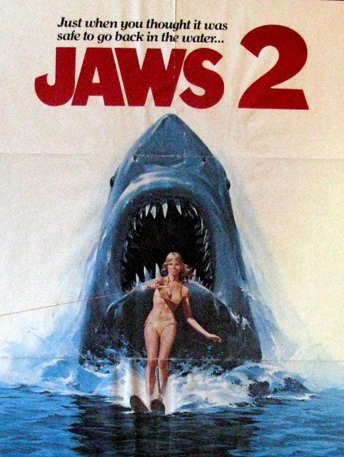 """JAWS 2 - 1978 - One Sheet Movie Poster - 27""""x 41"""" - - 2"""