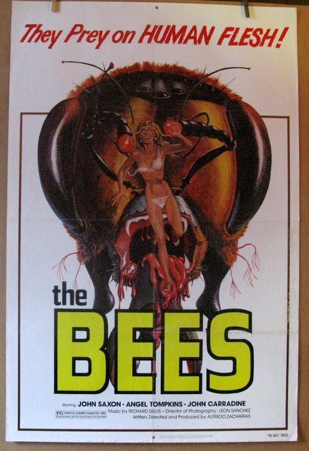 "THE BEES - 1978 - One Sheet Movie Poster - 27""x 41"" -"