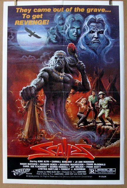 """SCALPS - 1984 - One Sheet Movie Poster - 27""""x 41""""-"""