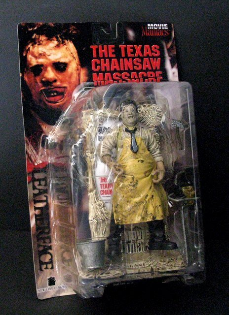 "LEATHERFACE - TEXAS CHAINSAW MASSACRE 7"" ACTION FIGURE"