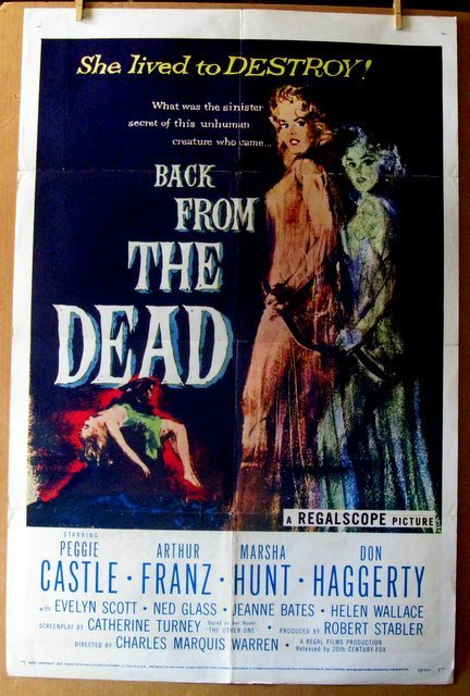 BACK FROM THE DEAD - 1957- One Sheet Movie Poster -