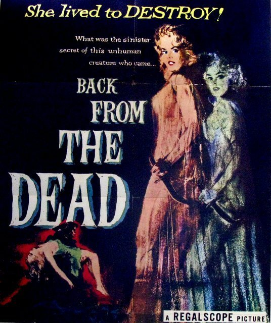 BACK FROM THE DEAD - 1957- One Sheet Movie Poster - - 2