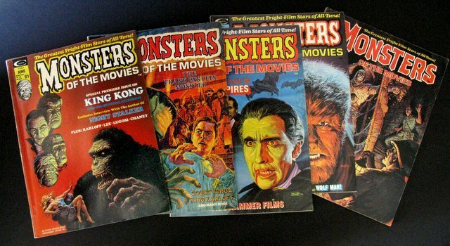 MONSTERS OF THE MOVIES MAGAZINE - LOT OF FIVE -