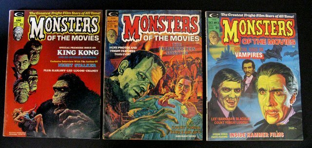 MONSTERS OF THE MOVIES MAGAZINE - LOT OF FIVE - - 2
