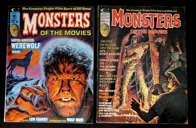 MONSTERS OF THE MOVIES MAGAZINE - LOT OF FIVE - - 3