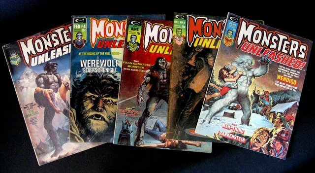 MONSTERS UNLEASHED MAGAZINE - FIVE ISSUE LOT - Includes