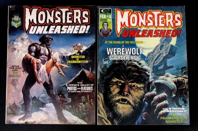 MONSTERS UNLEASHED MAGAZINE - FIVE ISSUE LOT - Includes - 2