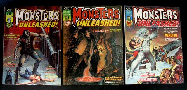 MONSTERS UNLEASHED MAGAZINE - FIVE ISSUE LOT - Includes - 3