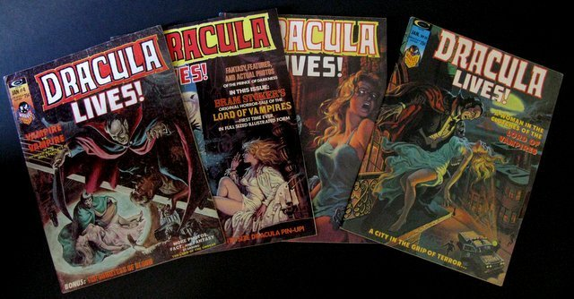 DRACULA LIVES MONSTER MAGAZINE - FOUR ISSUE LOT -