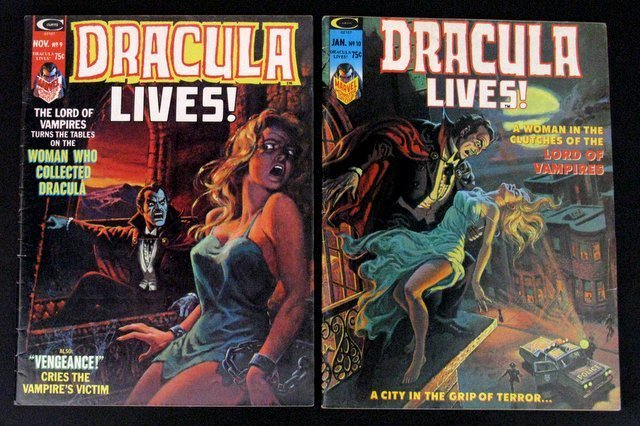 DRACULA LIVES MONSTER MAGAZINE - FOUR ISSUE LOT - - 3