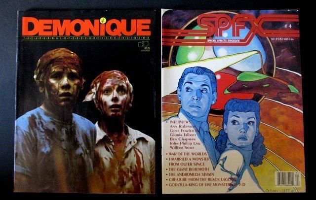 MONSTER FANZINES - LOT OF FOUR - Includes: Demonique - 2