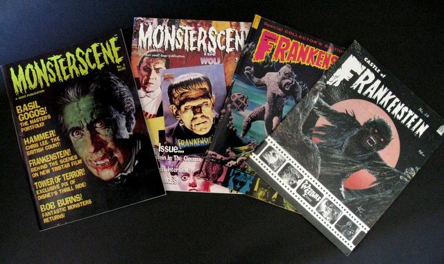 CLASSIC MONSTER MAGAZINES - LOT OF FOUR - Includes: