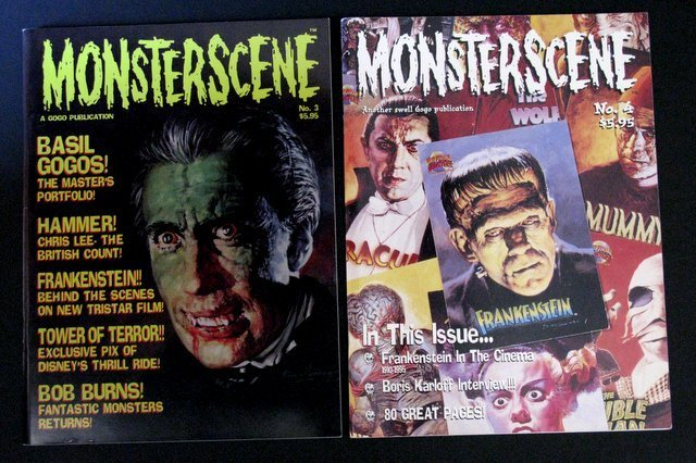 CLASSIC MONSTER MAGAZINES - LOT OF FOUR - Includes: - 2
