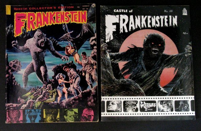CLASSIC MONSTER MAGAZINES - LOT OF FOUR - Includes: - 3