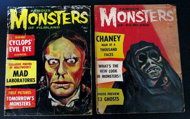 FAMOUS MONSTERS OF FILMLAND MAGAZINES - LOT OF TWO