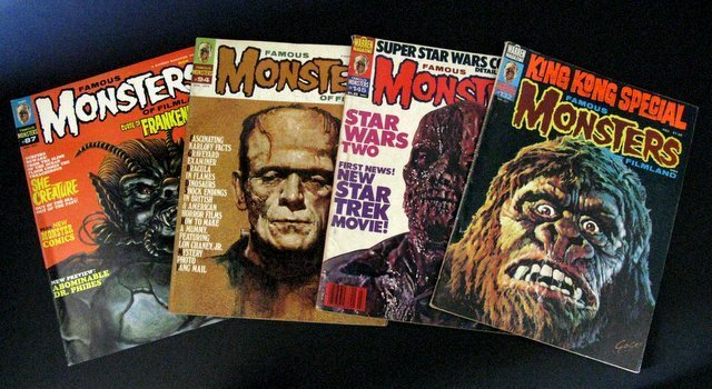 FAMOUS MONSTERS OF FILMLAND MAGAZINE - FOUR ISSUE LOT -