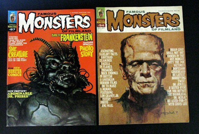 FAMOUS MONSTERS OF FILMLAND MAGAZINE - FOUR ISSUE LOT - - 2