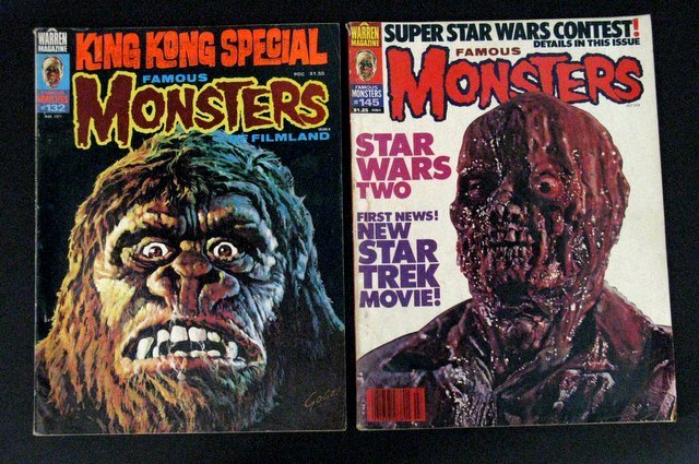 FAMOUS MONSTERS OF FILMLAND MAGAZINE - FOUR ISSUE LOT - - 3