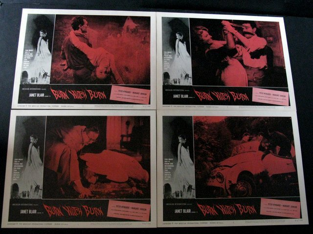 BURN WITCH BURN LOBBY CARD SET OF 8 - American - 2