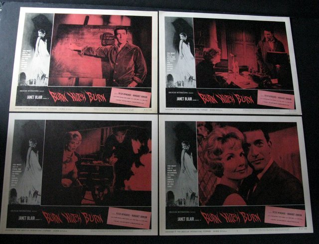 BURN WITCH BURN LOBBY CARD SET OF 8 - American - 3