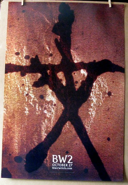 BLAIR WITCH TWO, BOOK OF SHADOWS - 2000 - Two One Sheet