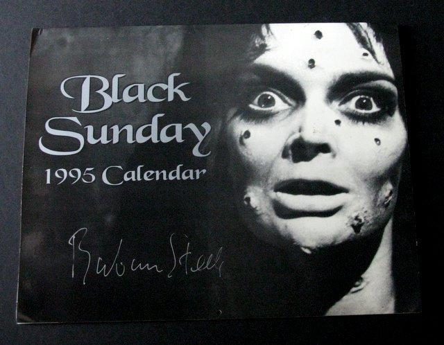 BLACK SUNDAY 1995 CALENDAR AUTOGRAPHED BY STAR BARBARA