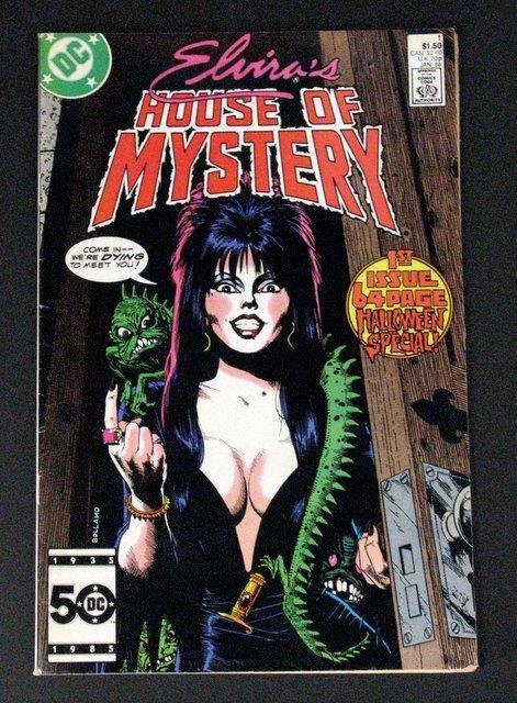 ELVIRA'S HOUSE OF MYSTERY COMIC BOOK #1 - DC Comics,