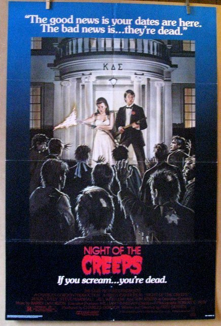 NIGHT OF THE CREEPS - 1986 - One Sheet Movie Poster -