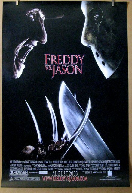 "FREDDY VS JASON - 2003 - One Sheet Movie Poster - 27""x"