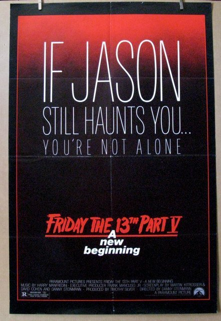 FRIDAY THE 13TH PART 5: A NEW BEGINING - 1985 - One