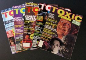 Toxic Horror Magazine - Complete Run Of Five Issues -