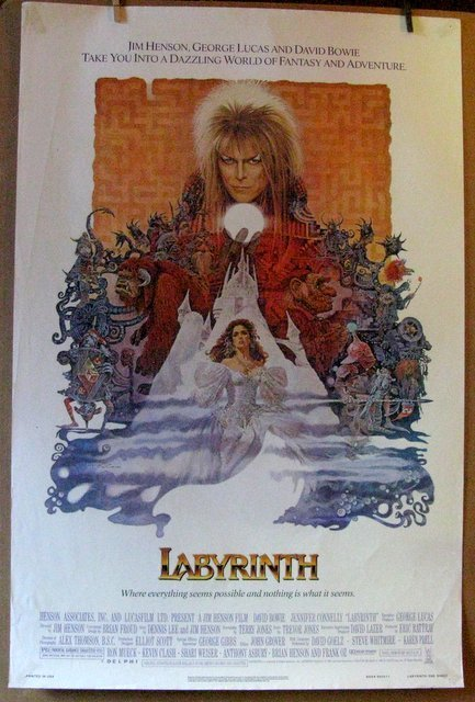 DAVID BOWIE, LABYRINTH - 1986 - One Sheet Movie Poster
