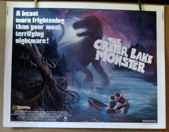 THE CRATER LAKE MONSTER - 1977 - Untrimmed Half-sheet