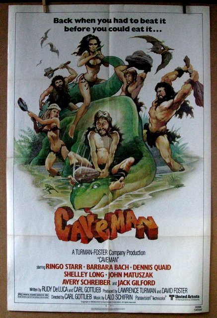 CAVEMAN WITH RINGO STARR - 1981 - One Sheet Movie
