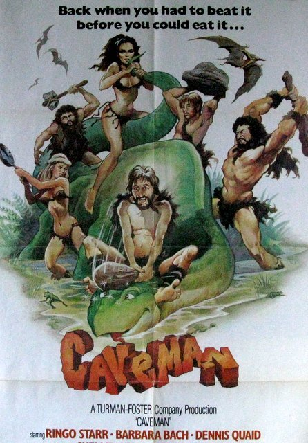 CAVEMAN WITH RINGO STARR - 1981 - One Sheet Movie - 2