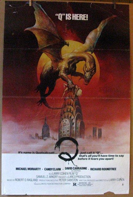 Q THE WINGED SERPENT - 1982 - Fabulous Boris Artwork -