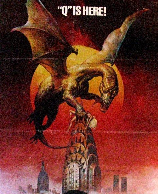 Q THE WINGED SERPENT - 1982 - Fabulous Boris Artwork - - 2
