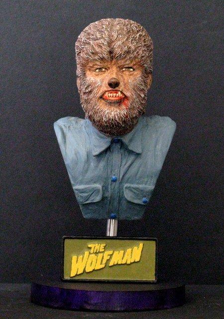 THE WOLF MAN - PRO PAINTED PORTRAIT BUST - GEOmetric
