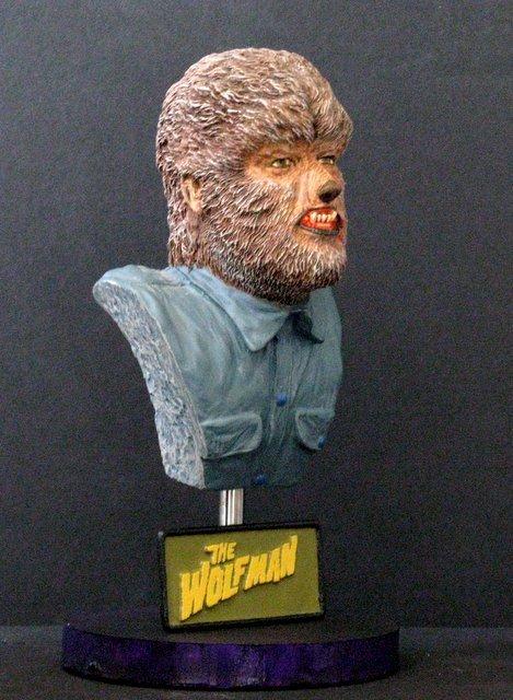 THE WOLF MAN - PRO PAINTED PORTRAIT BUST - GEOmetric - 2