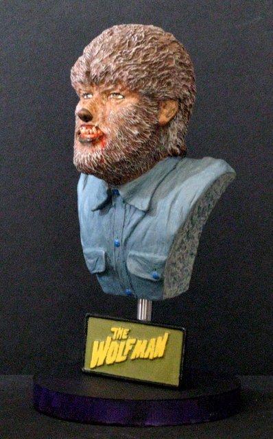 THE WOLF MAN - PRO PAINTED PORTRAIT BUST - GEOmetric - 3