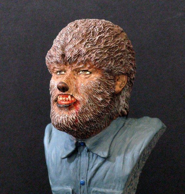 THE WOLF MAN - PRO PAINTED PORTRAIT BUST - GEOmetric - 4