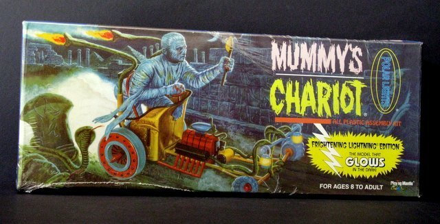 THE MUMMY'S CHARIOT RE-ISSUE OF THE CLASSIC 60'S AURORA