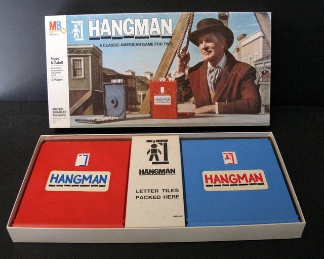 VINCENT PRICE - HANGMAN GAME - Milton Bradley, 1976 - - 2