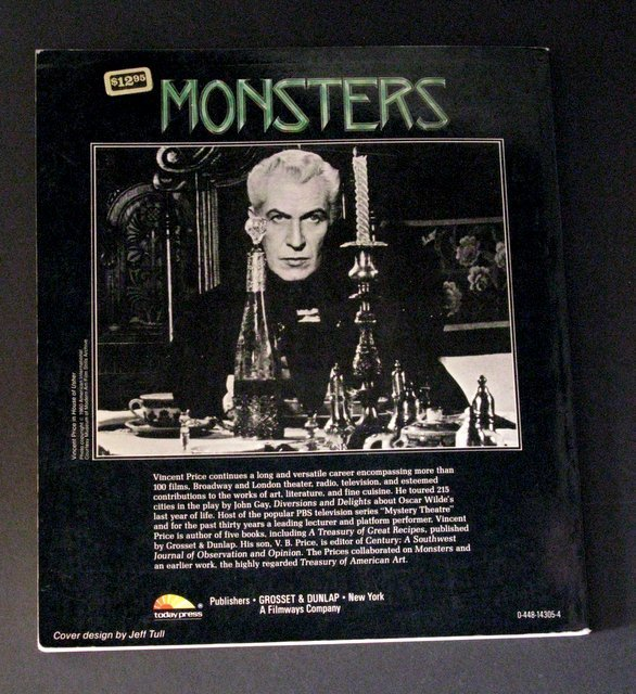 MONSTERS BY VINCENT PRICE DELUXE TRADE PAPERBACK - - 4