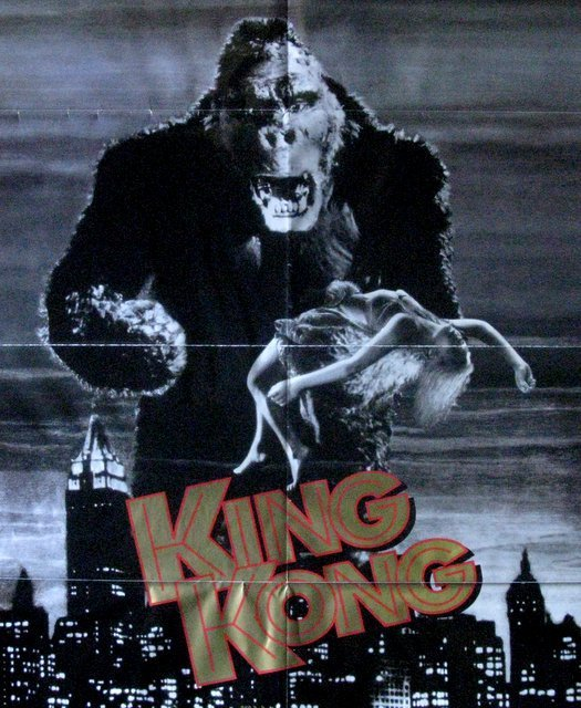 KING KONG - 60th ANNIVERSARY VIDEO POSTER - Turner Home - 2