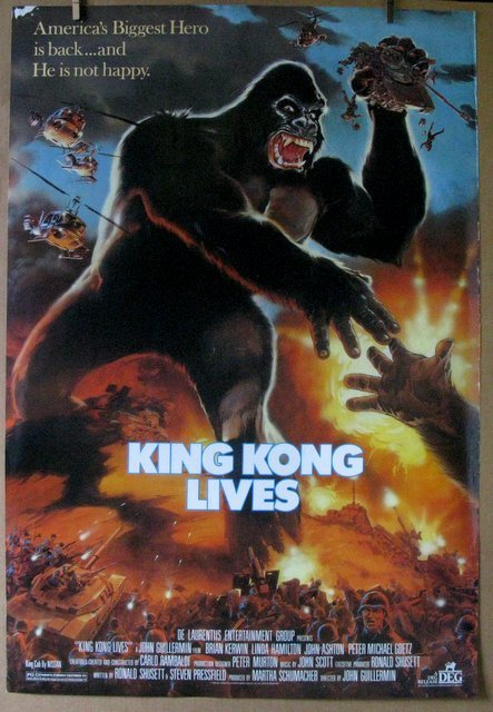 """KING KONG LIVES - 1986 - One Sheet Movie Poster - 27""""x"""