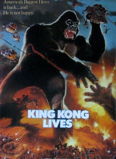 """KING KONG LIVES - 1986 - One Sheet Movie Poster - 27""""x - 2"""