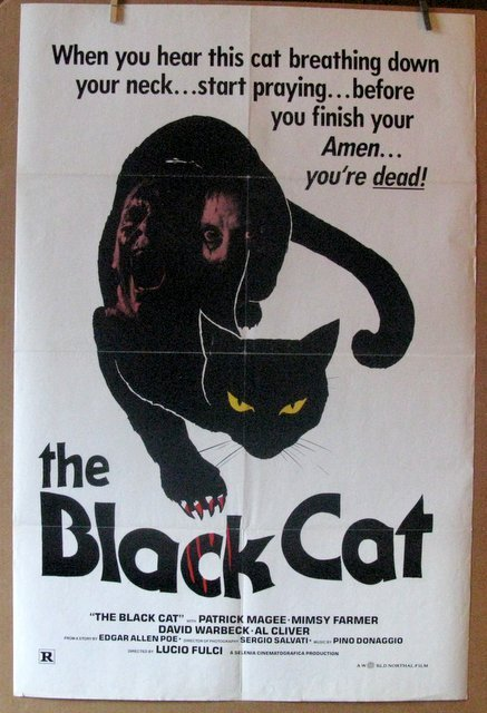 LUCIO FULCI'S THE BLACK CATE - 1980 - One Sheet Movie